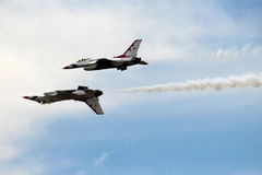 US Air Force Thunderbirds in Close formation Royalty Free Stock Image