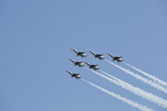 US Air Force Thunderbirds Demonstration Squadron Royalty Free Stock Photo