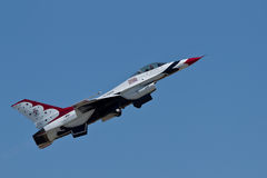 US Air Force Thunderbirds Demonstration Squadron Royalty Free Stock Photography