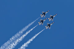 US Air Force Thunderbirds Demonstration Squadron Royalty Free Stock Images