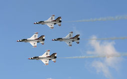 US Air Force Thunderbirds in flight Stock Photography