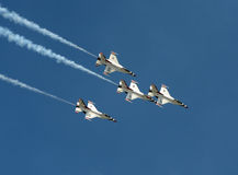 US Air Force Thunderbirds in flight Stock Images