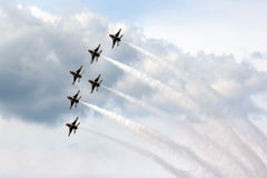 US Air Force Thunderbirds in formation Royalty Free Stock Image