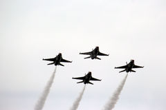 US Air Force Thunderbirds in formation royalty free stock photography