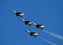 US Air Force Thunderbirds soaring Royalty Free Stock Photography