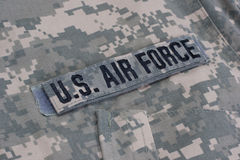 Us air force uniform. Background Royalty Free Stock Images
