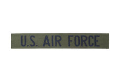 Us air force uniform badge Royalty Free Stock Photo