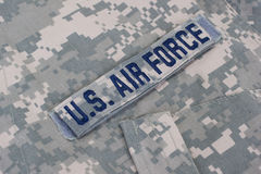 Us air force uniform. Us air force camouflage uniform backgroung Stock Image