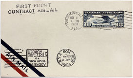 US Air Mail Cover Royalty Free Stock Photography