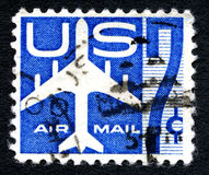 US Air Mail Postage Stamp Stock Photography
