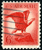 US Air Mail Postage Stamp Stock Image