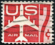 US Air Mail Postage Stamp Royalty Free Stock Image