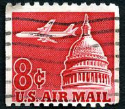 US Air Mail Postage Stamp Royalty Free Stock Images