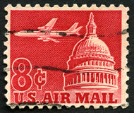US Air Mail Postage Stamp Royalty Free Stock Photo