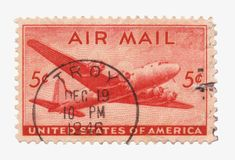 Us Air Mail Stamp Stock Photo