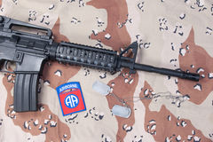 Us airborne carbine with blank dog Royalty Free Stock Image