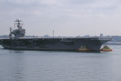 US Aircraft Carrier Royalty Free Stock Image