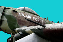 US Airforce. Old plane, photo taken in Vietnam, isolated Stock Image