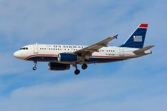 US Airways Airbus A319 Imagens de Stock