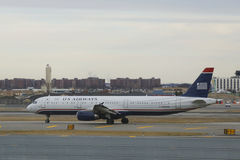 US Airways  Airbus A321 aircraft taxing at John F Kennedy International Airport Stock Photos