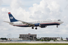 US Airways Boeing 737 Aircraft Stock Image