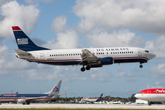 US Airways Boeing 737 Aircraft Royalty Free Stock Image