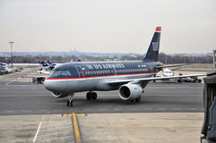 US Airways Airbus 319 at Washington DC airport Royalty Free Stock Images