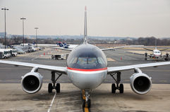 US Airways Airbus 319 at Washington DC airport Stock Images