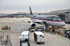US Airways Airbus 319 at Washington DC airport Royalty Free Stock Photo