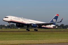 US Airways Boeing B757-2B7 Imagens de Stock Royalty Free