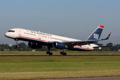 US Airways Boeing B757-2B7 Royalty Free Stock Images