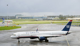 Us airways boeing 757 2B7 Stock Photography