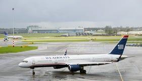 Us airways boeing 757 2B7 Stock Photography