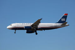 Us Airways flygbuss A320 Arkivfoton
