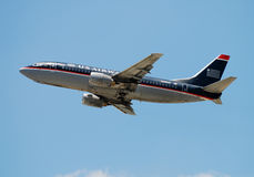 US Airways passenger jet Royalty Free Stock Photo