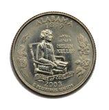 US Alabama quarter dollar royalty free stock photo