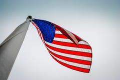 US/American旗子老荣耀 免版税库存图片