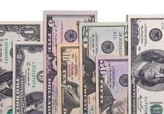 US american dollar money bills isolated on white background. Stock Photos