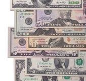 US american dollar money bills  on white background. Stock Photo