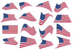 US American flying Flag Royalty Free Stock Images