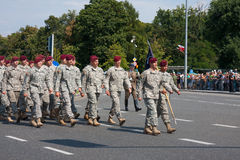US American forces parade Royalty Free Stock Photo