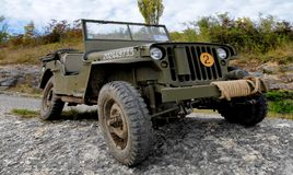 American military jeep vehicle of wwii. Us american military jeep vehicle of wwii royalty free stock image
