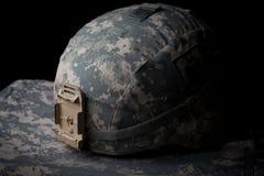 Us-arméhjälm Arkivfoto