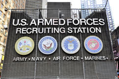 US armed forces recruiting station on Times Square Royalty Free Stock Photos