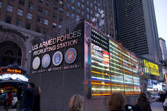US Armed Forces Times Square Booth Royalty Free Stock Photos