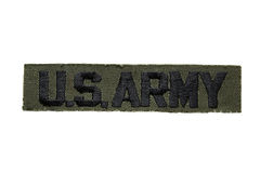 Us army. Isolated U.S. Army emblem royalty free stock images