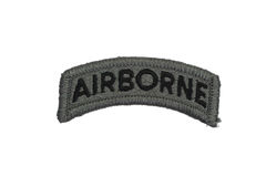 US ARMY airborne badge isolated. On white royalty free stock images