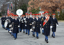 US Army band at the old chapel at Ft Myer, Va. Stock Photography