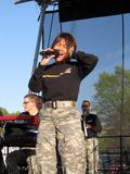 US Army Band Singer Stock Image