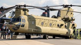 US Army Boeing CH-47F Chinook helicopter Royalty Free Stock Photography